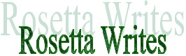 Rosetta Writes